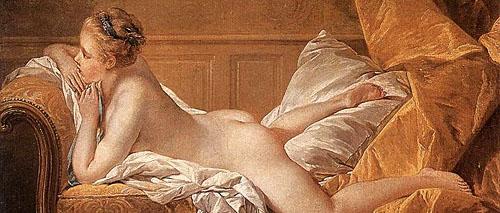 """Portrait of Marie-Louise O'Murphy,"" Louis XV's mistress, by François Boucher, 1751. Source: Wikipedia"