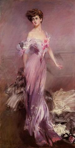 Source: Té de Violetas. Portrait by Giovanni Boldini of Mrs. Howard Johnston, 1906.