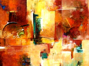 """Storyboards,"" painting by Elizabeth Chapman. Source: melizabethchapman.blogspot.com (Website link embedded within.)"