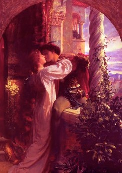 """Romeo and Juliet,"" by Sir Frank Dicksee. Source: caitaratartaglia.wordpress.com"