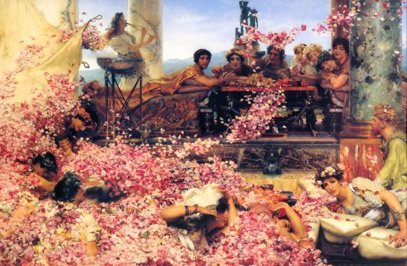 """The Roses of Heliogabalus"" (1888), by Sir Lawrence Alma-Tadema. Source: Wikipedia.com"