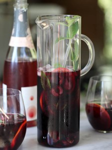 Cherry sangria made from Kirsch and Zinfandel wine. Source: foodiecrush.com