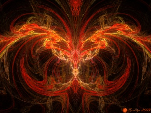 """Phoenix Rising"" by William 'Spektyr' Laskarski at spektyr.com. (Website link embedded within.)"