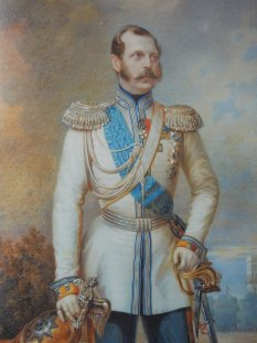 Alexander II portrait by Aloise Gustave Rockstuhl. Source: eng.tzar.ru.