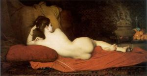 """Odalisque"", 1874, by Jules Joseph Lefebvre. Source: Te de Violetas and Wikipedia."