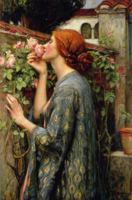 """My Sweet Rose,"" by John William Waterhouse. Source: artrenewal.org"