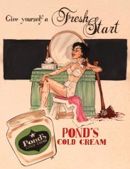 Vintage ad for Pond's Cold Cream. Source: aperfumeblog.com