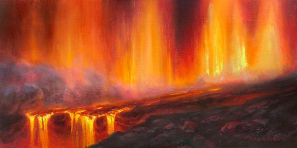 """Curtain Of Fire Kilauea Volcano Hawaii"" Print by Karen Whitworth on Fine Art America. (Direct website link embedded within.)"