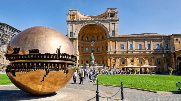 Vatican Museum _ Cortile della pigna. Photo & Source: http://ourescapades.com/rome-day-2/