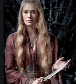 """Cersei Lannister."" Source: lena-headey.com and Twitter."