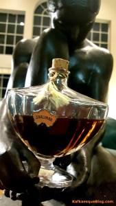 Vintage Shalimar, 4/2 oz Baccarat bottle, perhaps 1960s or 1970s. Photo & bottle: my own.