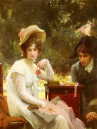 """""""In Love"""" (1907) by Marcus Stone. Source: Pinterest."""