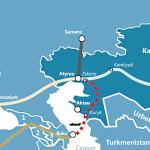 Kazakhstan and Azerbaijan plan an undersea trans-Caspian oil pipeline