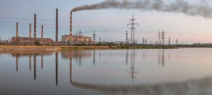 Славянская тепловая электростанция была остановлена