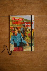 Notitieboek van het kinderboek Floortje Bellefleur gaat op kamp | gemaakt door Kaftwerk.com