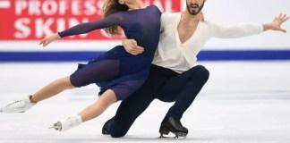 Gabriella Papadakis et Guillaume Cizeron vainqueurs à Moscou en danse sur glace le 20 janvier 2018 lors de l'Euro
