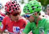 Le Colombien Nairo Quintana (g) et l'Espagnol Alejandro Valverde lors de la 16e étape de La Vuelta (Tour d'Espagne), le 5 septembre 2016