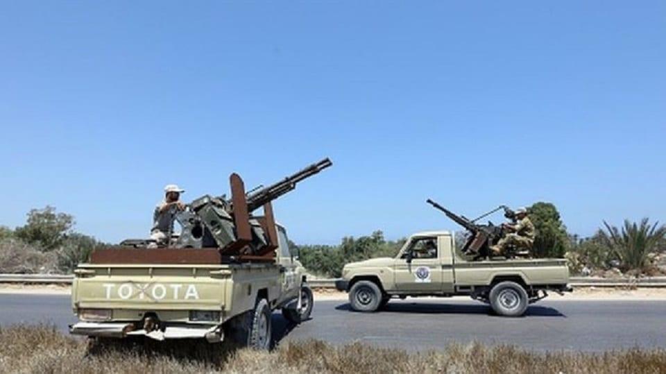 Des forces de sécurités libyennes.