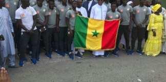 CM U20 Le drapeau national remis aux lionceaux