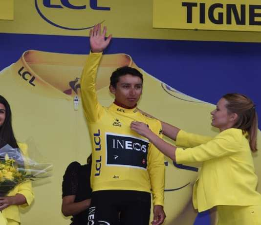 Egan Bernal, désormais en jaune © Photo News