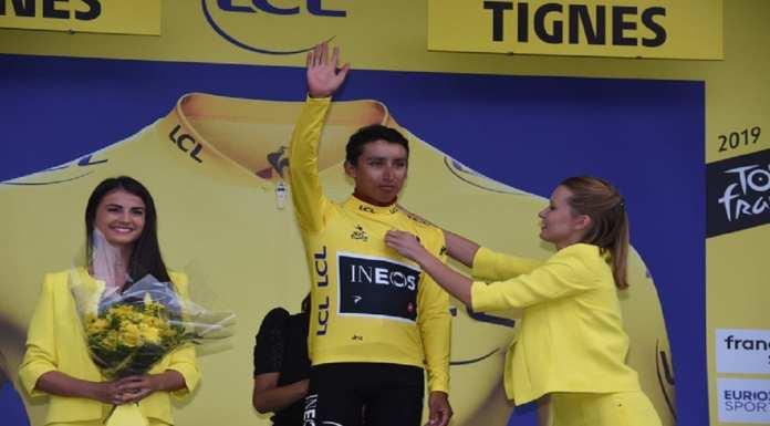 Egan Bernal, désormais en jaune © Photo News