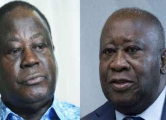 Henri Konan Bédié et Laurent Gbagbo (photos d'archives). © Photomontage: Vincent Fournier/Jeune Afrique / Peter Dejong/AP/SIPA