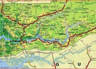 Carte de la Basse Casamance -