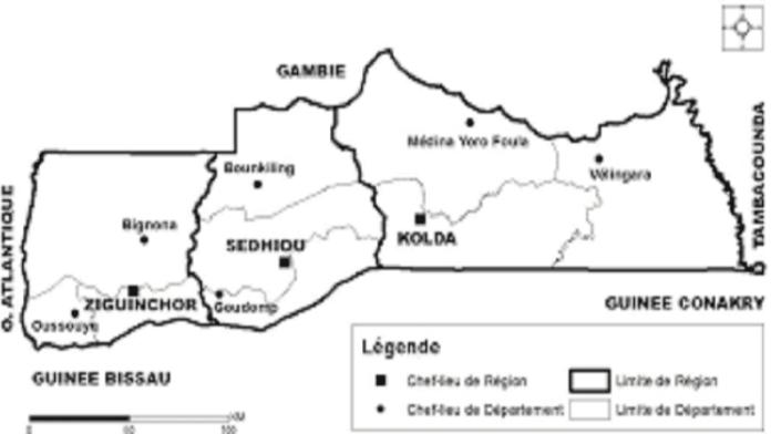Découpages administratifs et gouvernance territoriale en région naturelle de la Casamance