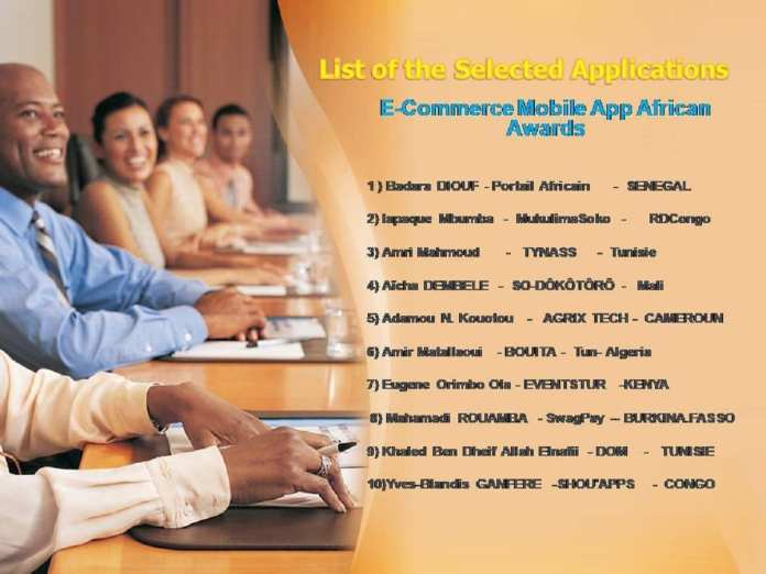 Liste des applications sélectionnées pour la 2ème édition ECMMAAA .