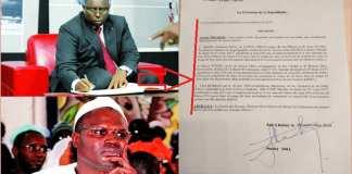 Macky Sall signe le décret graciant Khalifa Ababacar Sall-Capture