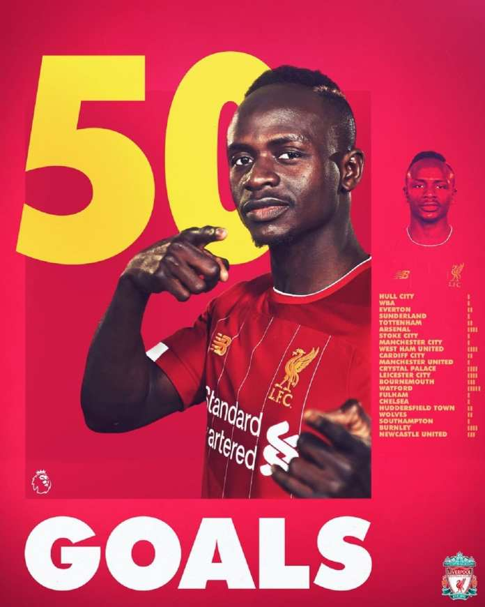 Sadio Mané a inscrit son 50e but de la league champion
