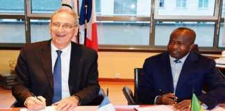 Denis Masseglia (G), président CNOSF - France et Mamadou Diagna Ndiaye (D), président du CNOSS - Sénégal