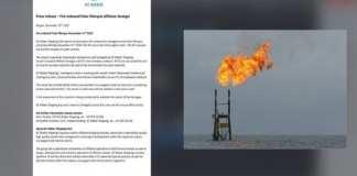 Pétrole et gaz : Un navire de sismique prend feu au large du Sénégal [Document]