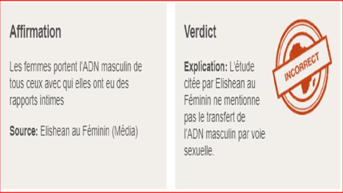 Faux, les femmes ne portent pas « l'ADN masculin » de tous leurs partenaires sexuels