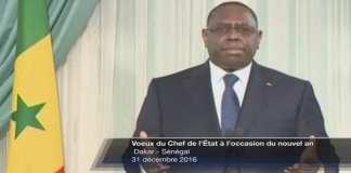 DISCOURS - Sénégal Macky Sall, Président (nouvel an)