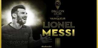 Lionel Messi sacré Ballon d'Or 2019 pour la sixième fois de l'histoire