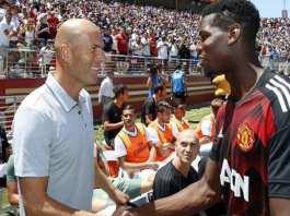 Zinedine Zidane (Real Madrid) ne lâche pas l'affaire pour Paul Pogba (Manchester United)