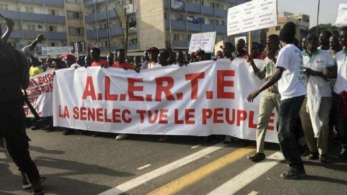 électricité -Manifestation à Dakar le vendredi 13 décembre contre le coût de l'électricité, entre autres.