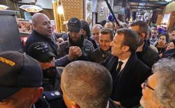 coup de colère (en anglais) d'Emmanuel Macron contre les forces de sécurité israéliennes