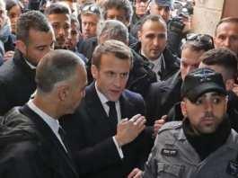 incident à Jérusalem en Emmanuel Macron et les forces de l'ordres israeliennes