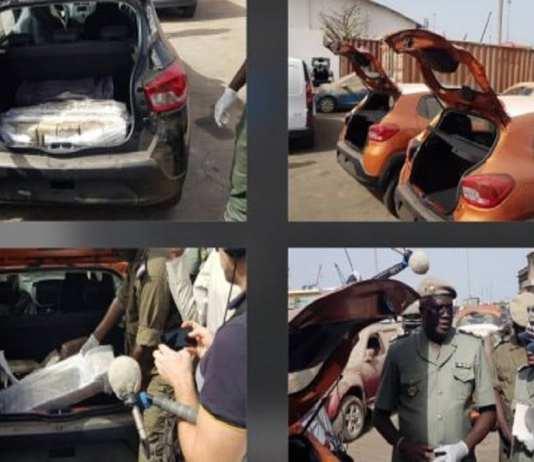 port de dakar - images des 238 kg de cocaîne