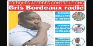 Le Cng frappe fort Gris Bordeaux radié, Bombardier suspendu, la licence de Mod'Lô confisquée, l'écurie Soumbédioune dissoute