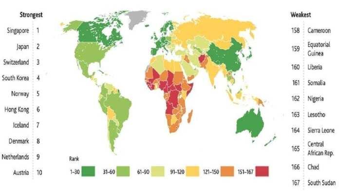 Singapour, le Japon et la Suisse sont les pays avec le meilleur système de santé au monde. © Legatum Institute