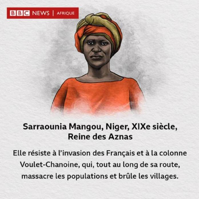 Sarraounia Mangou, combattante de l'indépendance du Niger.