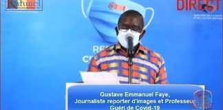 Gustave Emmanuel Faye, Journaliste et Professeur, Guéri de Covid 19-Capture