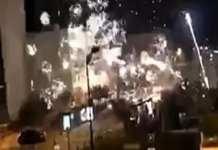 Un commissariat de police de Val-de-Marne attaqué au mortier d'artifice (France)