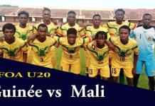 Guinée vs Mali Tournoi UFOA U20 zone A