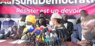 Affaire Sonko suivez la conférence de presse de Aar Suñu Démocratie