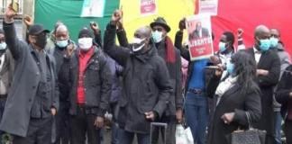 Diaspora sénégalaise Grande manifestation des Sénégalais devant l'ambassade du Sénégal à Washington à 15h