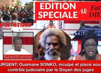 Urgent ! Ousmane Sonko inculpé et placé sous contrôle judiciaire par le doyen des juges